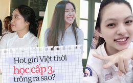 Hình ảnh mũm mĩm, ngố tàu của hot girl Việt thời còn là học sinh cấp 3