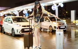 """Chỉ mới ra sân bay đến Milan mà Hoa hậu Kỳ Duyên đã """"dát"""" 900 triệu tiền hàng hiệu lên người!"""