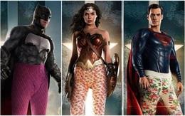 """Cười lăn khi siêu anh hùng """"Justice League"""" bận quần ngủ đi cứu thế giới"""