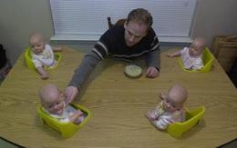 """Chị em sinh 4 với điệu cười """"cân"""" cả thế giới nay đã thành thiếu nữ cả rồi"""