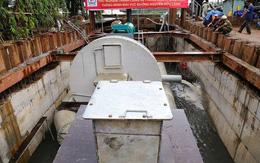 Siêu máy bơm chống ngập trên đường Nguyễn Hữu Cảnh tạm thời ngưng hoạt động để lắp đặt hoàn thiện hơn