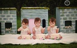 Bộ ảnh dễ thương của 3 bé sinh ba tự nhiên hiếm gặp trên thế giới