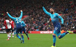 Giroud tỏa sáng phút cuối, giải cứu Arsenal