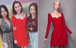 """Từng tuyên bố không """"nhái"""" thiết kế Việt, lần này Ngọc Trinh lại mặc váy """"na ná"""" của Lâm Gia Khang"""
