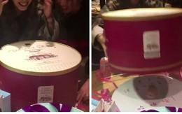 Muốn bạn thân cười bò trong sinh nhật thì cứ tặng nó chiếc bánh kem hộp rõ to nhưng bên trong lại nhỏ xíu