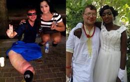 """Gã ăn mày xuyên lục địa quyết định từ giã """"sự nghiệp"""", kết hôn với một cô gái châu Phi"""
