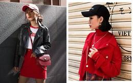 """Street style 2 miền: biker jacket, màu đỏ và chân váy mini là 3 """"thần chú"""" trong từ điển mix đồ của giới trẻ"""