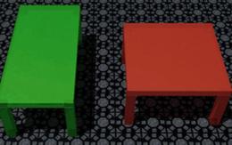 100% chúng ta sẽ nhìn thấy 2 cái bàn này khác nhau. Nhưng thực ra thì...