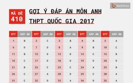 HOT: Gợi ý đáp án môn Anh kì thi tốt nghiệp THPTQG 2017