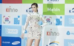 """Diện váy xuyên thấu tỏa sáng, Đông Nhi được khen ngợi trên thảm đỏ """"Asia Song Festival 2017"""""""
