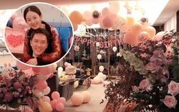 Triệu Lệ Dĩnh ôm chặt Phùng Thiệu Phong, hạnh phúc trong tiệc sinh nhật tràn ngập màu hồng do ông xã chuẩn bị