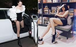 Không hề thua kém Bích Phương, cô nàng Bảo Anh cũng sở hữu cặp chân siêu thon nuột, đẹp xuất sắc ở mọi góc cạnh