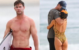 """""""Thor"""" Chris Hemsworth khoe body đẹp xuất sắc như một vị thần, khóa môi bà xã cũng cực nóng bỏng"""
