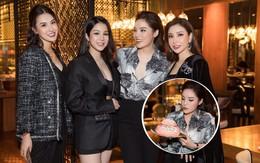 """Diệp Lâm Anh """"trốn con"""", cùng hội bạn thân toàn mỹ nhân đến chúc mừng sinh nhật Kỳ Duyên tròn 22 tuổi"""