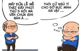 Nếu có truyện tranh về đội bóng Việt, HLV Park Hang-seo hẳn là ông thầy cute phô mai que nhất