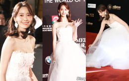 """Bỏng mắt trước khoảnh khắc Yoona o ép vòng 1 đến """"bức người"""", đẹp như thiên thần nóng bỏng trên thảm đỏ LHP Macao"""