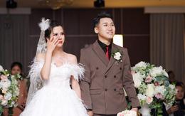 """Vợ Huy Cung mặc áo cưới 200 triệu, bật khóc vì bị chồng tung clip """"nói xấu"""" trước quan viên hai họ"""