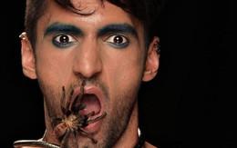 """Cho nhện bò vào mồm, anh chàng này lập tức đứng đầu """"Next Top Ấn Độ""""!"""