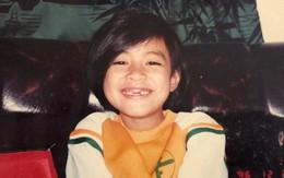 Nhìn hình ảnh cô bé tóc ngắn răng sún này, bạn có nhận ra đây là Hoàng Thùy Linh?