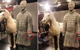 Du khách liều lĩnh vặt trộm ngón tay chiến binh đất nung trong lăng mộ Tần Thủy Hoàng