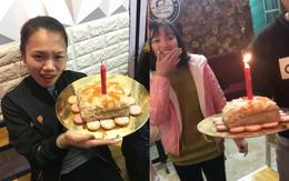 Khi sinh nhật bạn vào đúng ngày Tết thì bánh chưng cắm nến là món quà không tránh khỏi