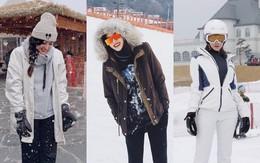 Kỳ Duyên - Diệp Lâm Anh - Hà Lade đăng ảnh dưới tuyết trắng: Xinh đẹp và mặc chất chẳng kém sao nữ Kbiz nào!
