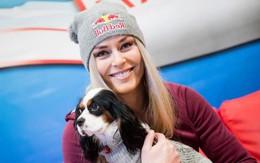 Lindsey Vonn: Mỹ nhân trượt tuyết yêu cún như con