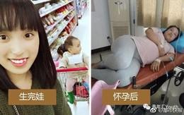 """Loạt ảnh trước và sau khi mang thai chứng minh: Đâu chỉ cánh chị em, các ông chồng cũng """"xài hao"""" lắm chứ"""