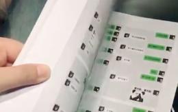 Bạn gái nói lỡ tay xoá hết lịch sử chat, chàng trai tặng ngay quyển sách chứa toàn bộ đoạn chat cũ