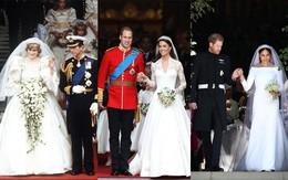 3 chiếc váy cưới nổi tiếng của Công nương Diana và hai cô con dâu xinh đẹp