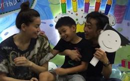 Hồ Ngọc Hà và Cường Đô La vui vẻ tổ chức sinh nhật muộn cho Subeo