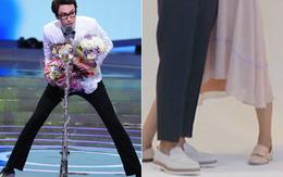 Đứng cạnh toàn sao nam cao hẳn mét 8 để chụp poster mà mỹ nhân Hàn này vẫn phải dạng chân vì quá cao