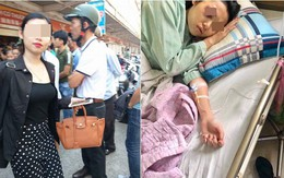 """Dân mạng xôn xao về """"quả báo"""" của Linh Thỏ: 2 tháng trước được chồng chở đi đánh vợ cũ giữa chợ, nay lại bị đánh sái quai hàm?"""