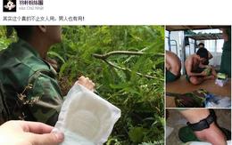 Sử dụng băng vệ sinh để lót giày, các anh bộ đội Việt Nam làm cộng đồng mạng thế giới thán phục vì thông minh sáng tạo