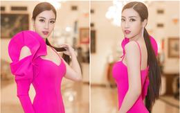 Đỗ Mỹ Linh bất ngờ trở lại với tóc dài, diện trang phục gợi cảm sau khi hết nhiệm kỳ Hoa hậu