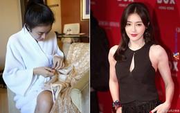 Tấm gương đảm đang phải như Tần Lam: Đã xinh đẹp lại chăm khâu vá trang phục cho bớt sexy