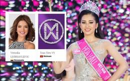 Chỉ vài ngày sau đăng quang, Trần Tiểu Vy chính thức xuất hiện trên trang chủ cuộc thi Miss World