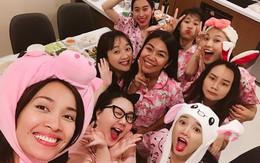 Nhã Phương tổ chức tiệc độc thân toàn màu hồng với hội bạn thân trước ngày cưới