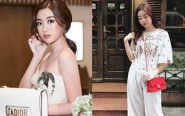 Nhiều Hoa hậu có nguyên tủ đồ hiệu tiền tỷ, Đỗ Mỹ Linh chỉ khiêm tốn mua 7 chiếc túi, dùng đi dùng lại suốt thời gian qua