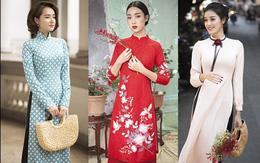 Gần Tết cũng là lúc loạt sao Việt khoe ảnh mặc áo dài xinh lung linh