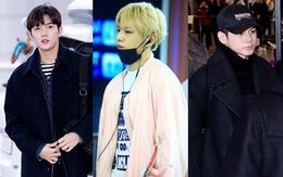 Dàn trai đẹp Wanna One khiến sân bay náo loạn vì chật kín fan, mỹ nam nhóm NU'EST lại đẹp hơn cả con gái