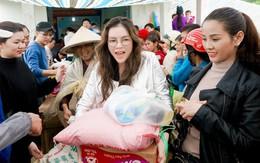 Lý Nhã Kỳ mang ủng lội bùn đi làm từ thiện tại Đắk Lắk