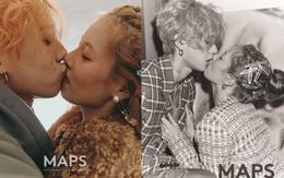 """Lần đầu trong lịch sử Kbiz, một cặp đôi dám """"khóa môi"""" công khai trên tạp chí và được khen hết lời vì quá nghệ"""