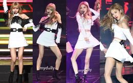 """""""Thánh body"""" Lisa và Rosé (Black Pink) gây sốc vì lộ đôi chân gầy như sắp gãy, nhăn nheo khó tả tại Gaon"""