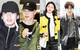 Em út mặt trắng bệch dẫn đầu đoàn BTS đọ sắc với Suho (EXO), mỹ nhân Seolhyun khoe dáng sang chảnh tại sân bay