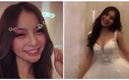 Cuối tuần đang yên ả, bạn gái Quang Hải đăng story thử váy cưới khuấy động Instagram