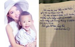 """Lỡ viết hai chữ """"bố mẹ"""" rồi lại gạch đi vì nhận ra một điều - nhật ký của con trai Vân Hugo khiến nhiều người cảm động"""