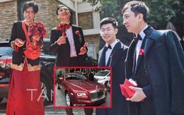 """Đám cưới hot nhất hôm nay: Thiếu gia giàu nhất Trung Quốc làm phù rể, tặng """"nóng"""" cô dâu chú rể 1 chiếc Rolls Royce"""