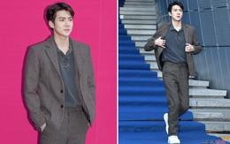 Tái xuất sau scandal của Seungri, Sehun bảnh như đại thiếu gia, chiếm mọi spotlight trong ngày cuối Seoul Fashion Week