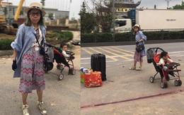 Bella tiếp tục tha lôi con trai trên chiếc xe đẩy, lang thang khắp các tỉnh dưới cái nắng 40 độ khiến nhiều người lo lắng